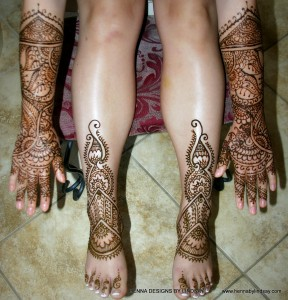 Tianyi's henna arms, hands legs and feet. She was such a sweet person and joy to work with.